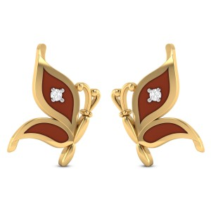 Jocely Butterfly Diamond Stud Earrings