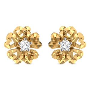 Haakon Floral Diamond Earrings
