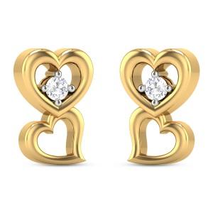 Haddow Twin Heart Diamond Earrings