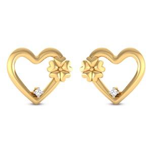 Hafiz Heart Diamond Earrings