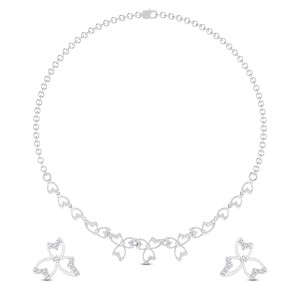 Orchid Garland Diamond Necklace Set