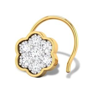 Bloomy Cluster Diamond Nosepin