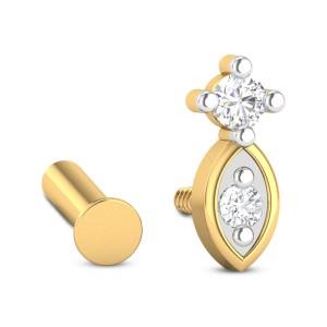 Magnus Dual Stone Diamond Nosepin