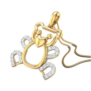 Cuddle Teddy Diamond Pendant