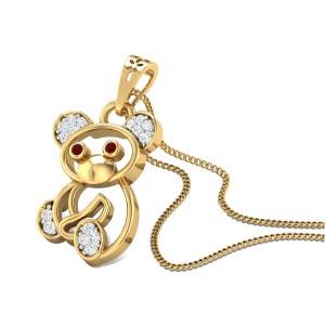 Cute Teddie Diamond Pendant