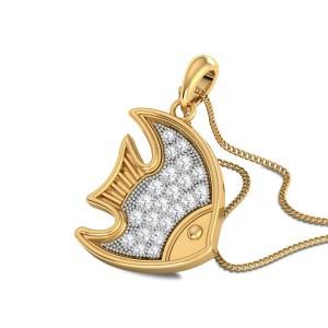 Rachaela Fish Diamond Pendant