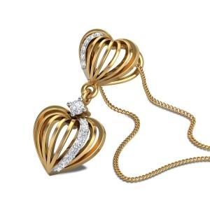 Maayan Diamond Dual Heart Pendant