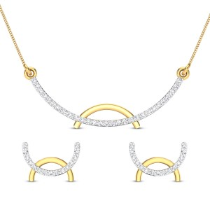 Zaina Diamond Pendant Set