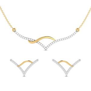 Anmol Diamond Pendant Set