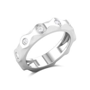 Zig Zag Diamond Band Ring