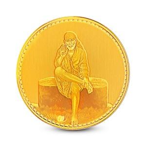 1 Gram 22Kt Hallmarked Saibaba Gold Coin