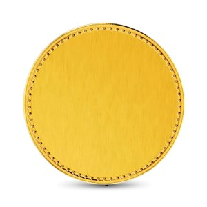 4 Gram 22Kt Hallmarked Plain Gold Coin