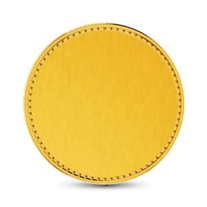 4 Gram 22Kt Hallmarked Plain Gold Coin