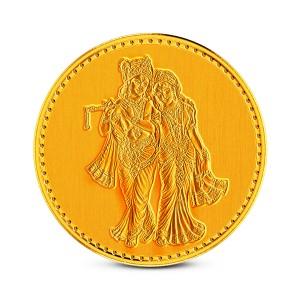 1 Gram 24Kt Radha Krishna Gold Coin