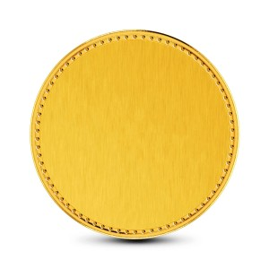 2 Gram 24Kt Plain Gold Coin