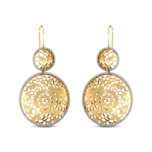 Kahlia Cutout Gold Hanging Earrings