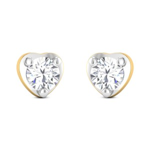Twinkling Heart Solitaire Earrings