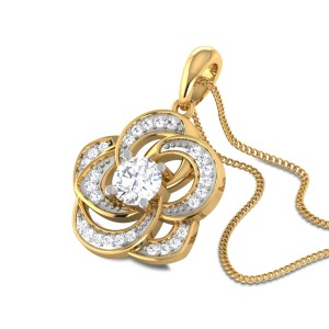 Odelene Floral Solitaire Pendant